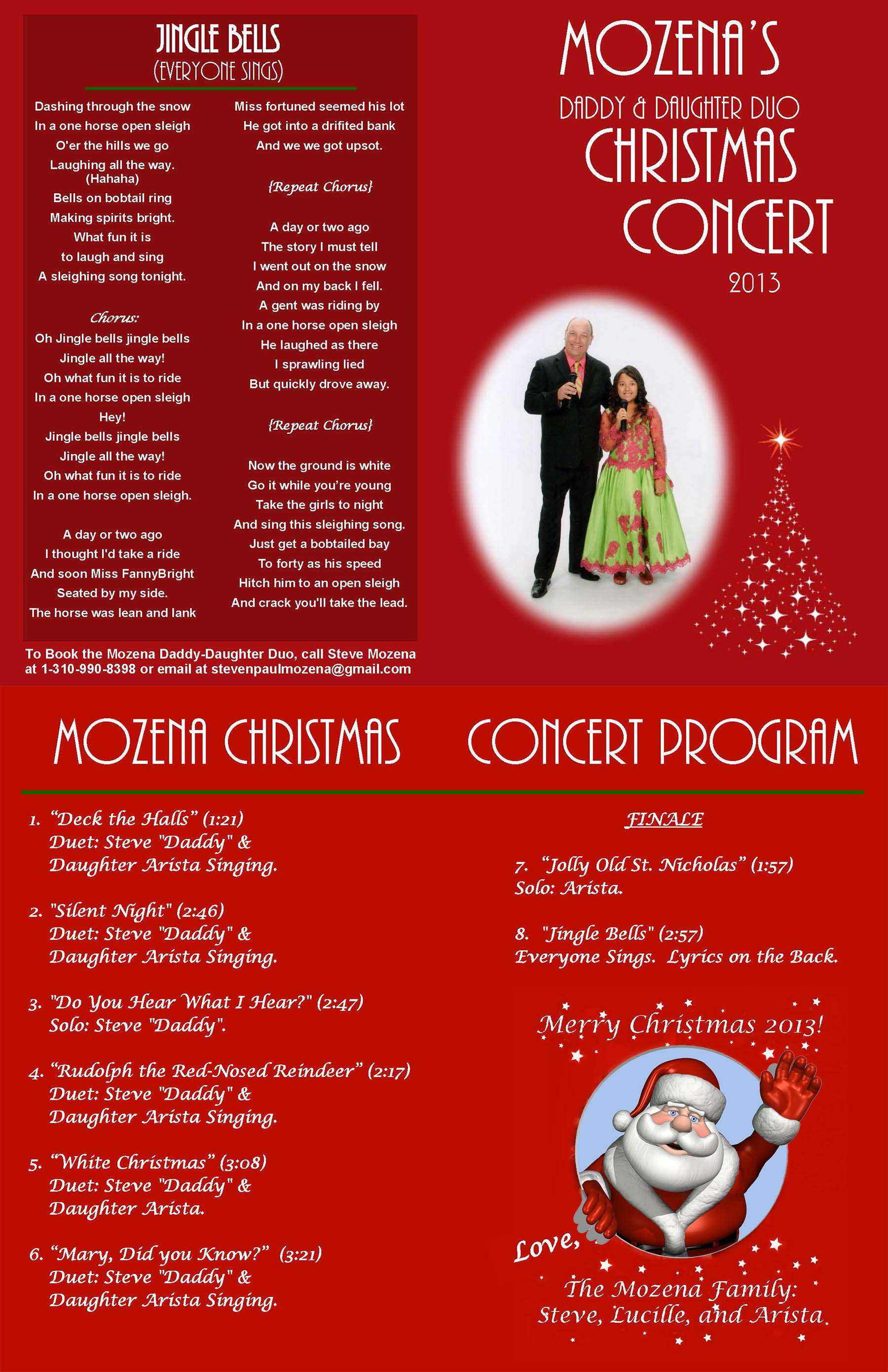 Daddy's Christmas Songs by Steve Mozena